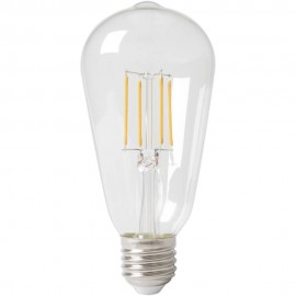 Calex LED Full Glass Filament Rustik Lamp 240V 6W 600lm E27 ST64, Clear 2700K