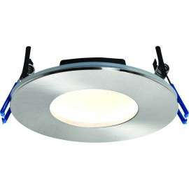 Satin Nickel Low Profile IP65 Downlight Colour Changing LED Integrated 11cm