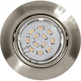 Steel Sliver LED Fixed Downlight LED Compatible 8.7cm