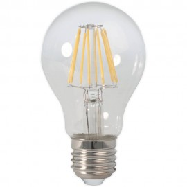 Calex LED Full Glass Filament GLS-lamp 240V 7W 810lm E27 A60, Clear 2700K CRI80 Dimmable