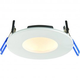 White Low Profile IP65 Downlight Colour Changing LED Integrated 11cm