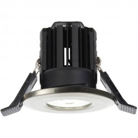 Satin Nickel IP65 Fixed Downlight LED Integrated 8.2cm
