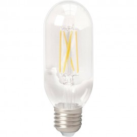 Calex LED Full Glass LongFilament Tubular-Type lamp 240V 4W 350lm E27 T45x110, Clear 2300K Dimmable