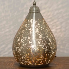 Nickel Table Lamp 33cm