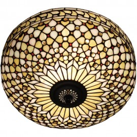Tiffany Flush Ceiling Light 45cm