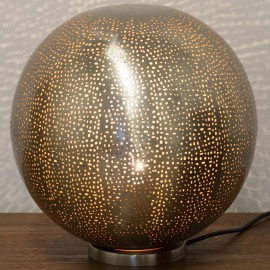 Nickel Table Lamp 30cm