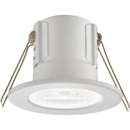White IP65 Fixed Downlight Cool White LED Integrated Compact 8.6cm