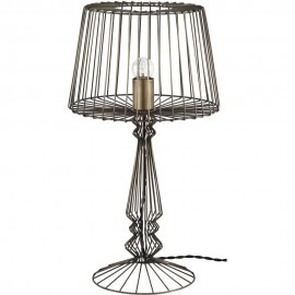 Industrial Open Wire Table Lamp 55.5cm