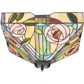 Tiffany Flush Ceiling Light 42.5cm