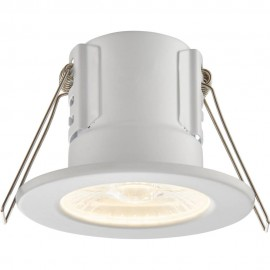 White IP65 Fixed Downlight Warm White LED Integrated Compact 8.6cm
