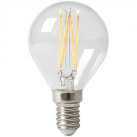 Calex LED Full Glass Filament Ball-lamp 240V 3,5W 350lm E14 P45, Clear 2700K CRI80 Dimmable