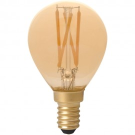 Calex LED Full Glass Filament Ball-lamp 240V 3,5W 200lm E14 P45, Gold 2100K CRI80 Dimmable