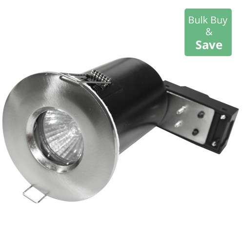 Brushed Silver IP65 IP65 Fixed Downlight LED Compatible 8.6cm