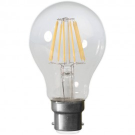 Calex LED Full Glass Filament GLS-lamp 240V 4W 390lm B22 A60, Clear 2700K CRI80 Dimmable
