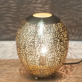 Nickel Table Lamp 31cm