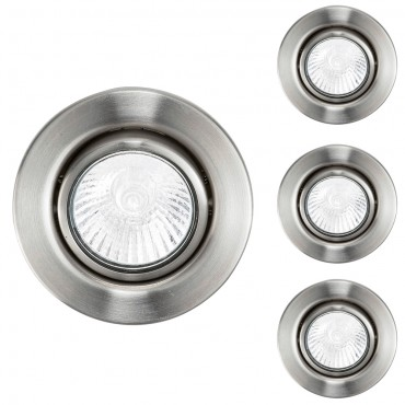 Tilt 240v GU10 Downlight Pack of 3 - Brushed Chrome