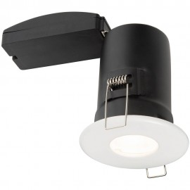 White IP65 Fixed Downlight LED Compatible 8.75cm