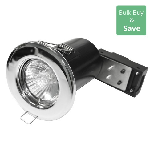 Chrome Fixed Downlight LED Compatible 8.6cm