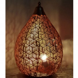 Rose Gold Table Lamp 43cm