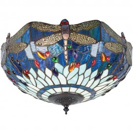 Tiffany Flush Ceiling Light 41cm