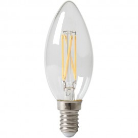 Calex LED  Filament Candle-lamp 240V 4W 470lm E14 B35, Clear 2700K CRI80 Dimmable