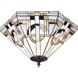 Tiffany Flush Ceiling Light 42cm