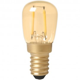 Calex LED Full Glass Filament Pilot lamp 240V 1,5W 130lm E14 T26x58, Gold 2100K CRI80