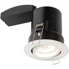 White Tilt Downlight LED Compatible 10cm