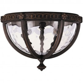 Court Outdoor Flush Porch Light 26.7cm