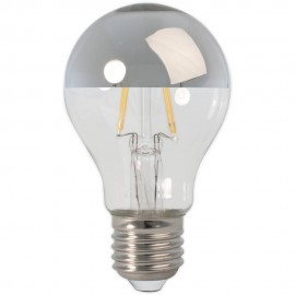 Calex LED Full Glass Filament GLS-lamp Top-mirror 240V 4W 370lm E27 A60, Clear 2700K CRI80