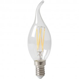 Calex LED Full Glass Filament Tip-Candle-lamp 240V 3,5W 350lm E14 BXS35, Clear 2700K CRI80 Dimmable