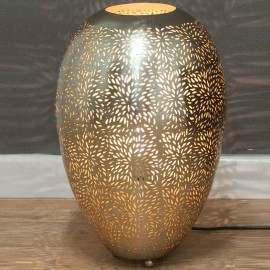 Nickel Table Lamp 49cm