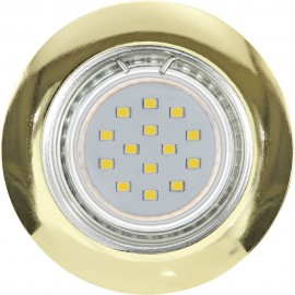 Brass LED Fixed Downlight LED Compatible 7.8cm Pack Of Three