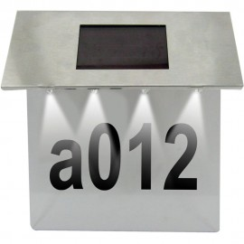 Solar Powered House Number Light