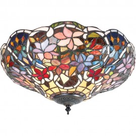 Tiffany Flush Ceiling Light 40cm