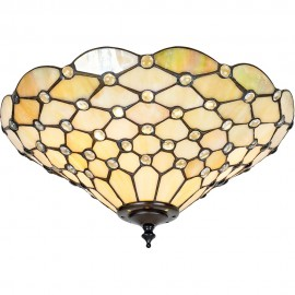 Tiffany Flush Ceiling Light 37cm
