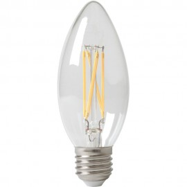 Calex LED Full Glass Filament Candle-lamp 240V 3,5W 350lm E27 B35, Clear 2700K CRI80 Dimmable
