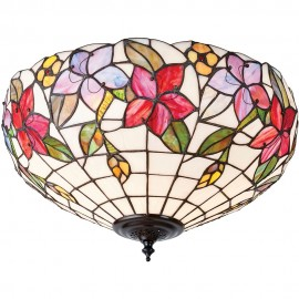 Tiffany Border Flush Ceiling Light 42cm
