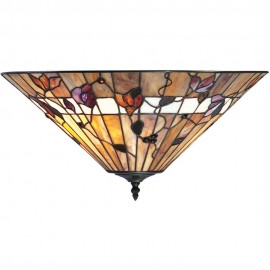 Tiffany Flush Ceiling Light 46cm