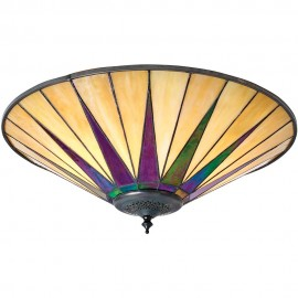 Tiffany Flush Ceiling Light 49cm