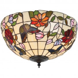 Tiffany Flush Ceiling Light 39cm