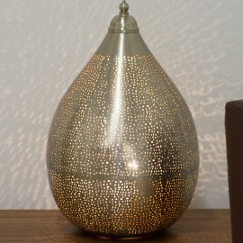 Nickel Table Lamp 43cm