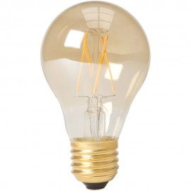 Calex LED Full Glass Filament GLS-lamp 240V 6,5W 600lm E27 A60,  Gold 2100K CRI80 Dimmable