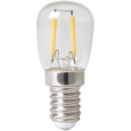 Calex LED Full Glass Filament Pilot lamp 240V 1W 100lm E14 T26x58, Clear 2700K CRI80