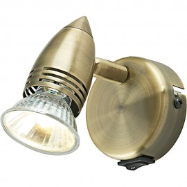 Antique Brass Spotlight 9cm