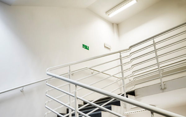 Simple Flush Stairwell Light