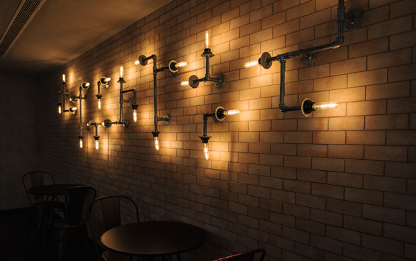 Retro Wall Pipe Lights
