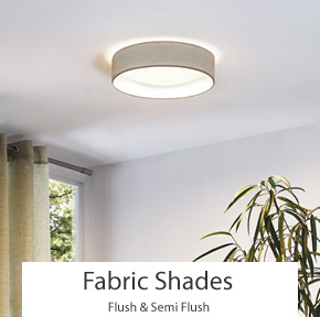 Shaded Flush & Semi Flush Ceiling Lights