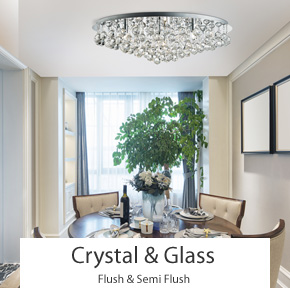 ... Crystal U0026 Glass Flush And Semi Flush Ceiling Lights ...