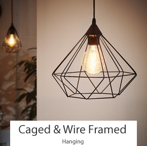 Caged Wire Framed Pendant Lights